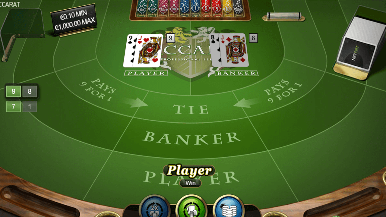 Baccarat Pro Series Table Game 2