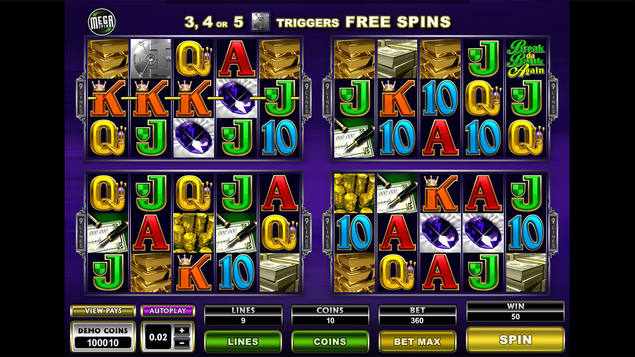 Mega Spins Break Da Bank Again 3