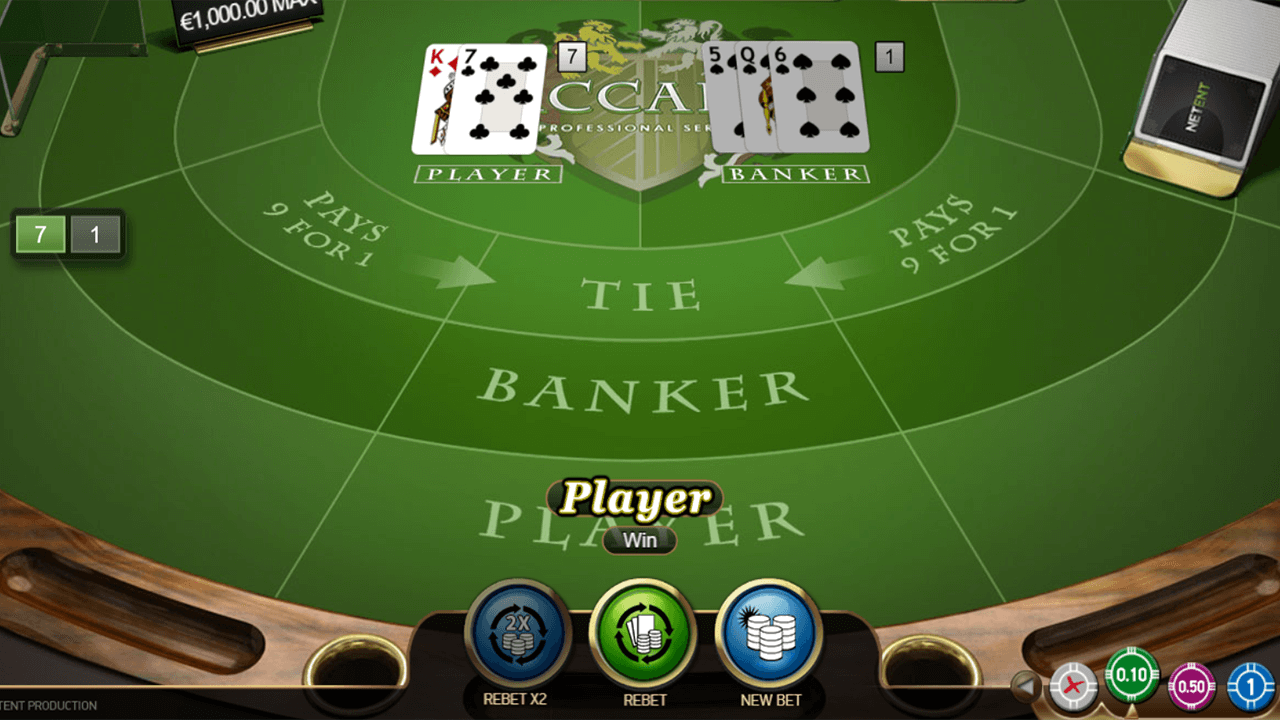 Baccarat Pro Series Table Game 1