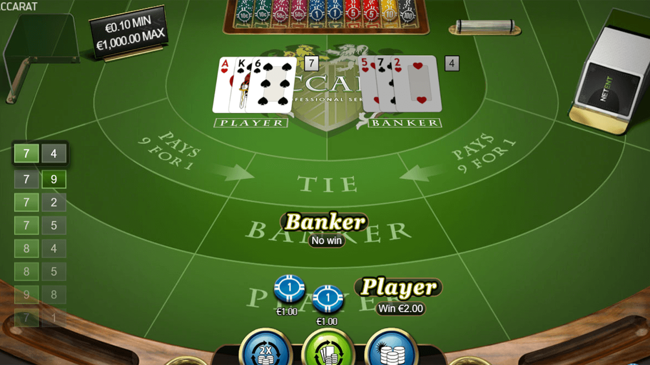 Baccarat Pro Series Table Game 7