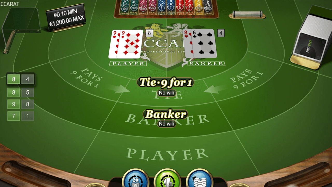 Baccarat Pro Series Table Game 5