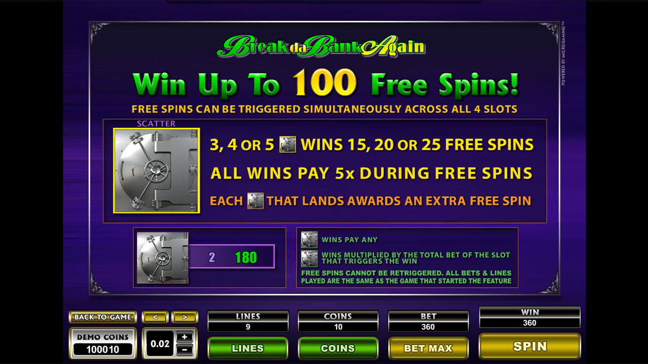Mega Spins Break Da Bank Again 6