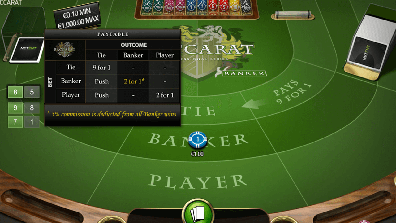 Baccarat Pro Series Table Game 4