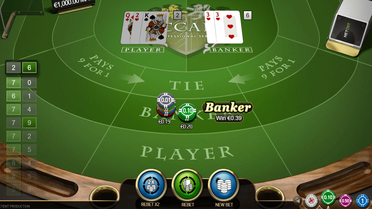 Baccarat Pro Series Table Game 8