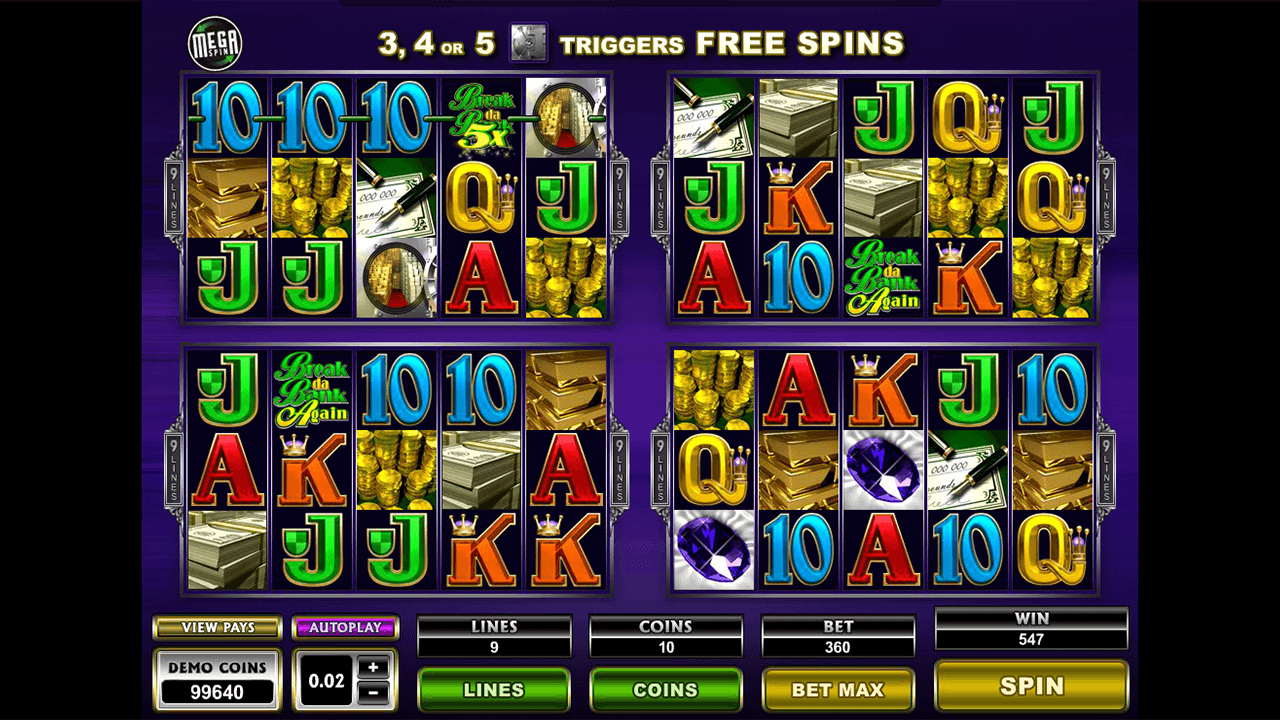 Mega Spins Break Da Bank Again 2