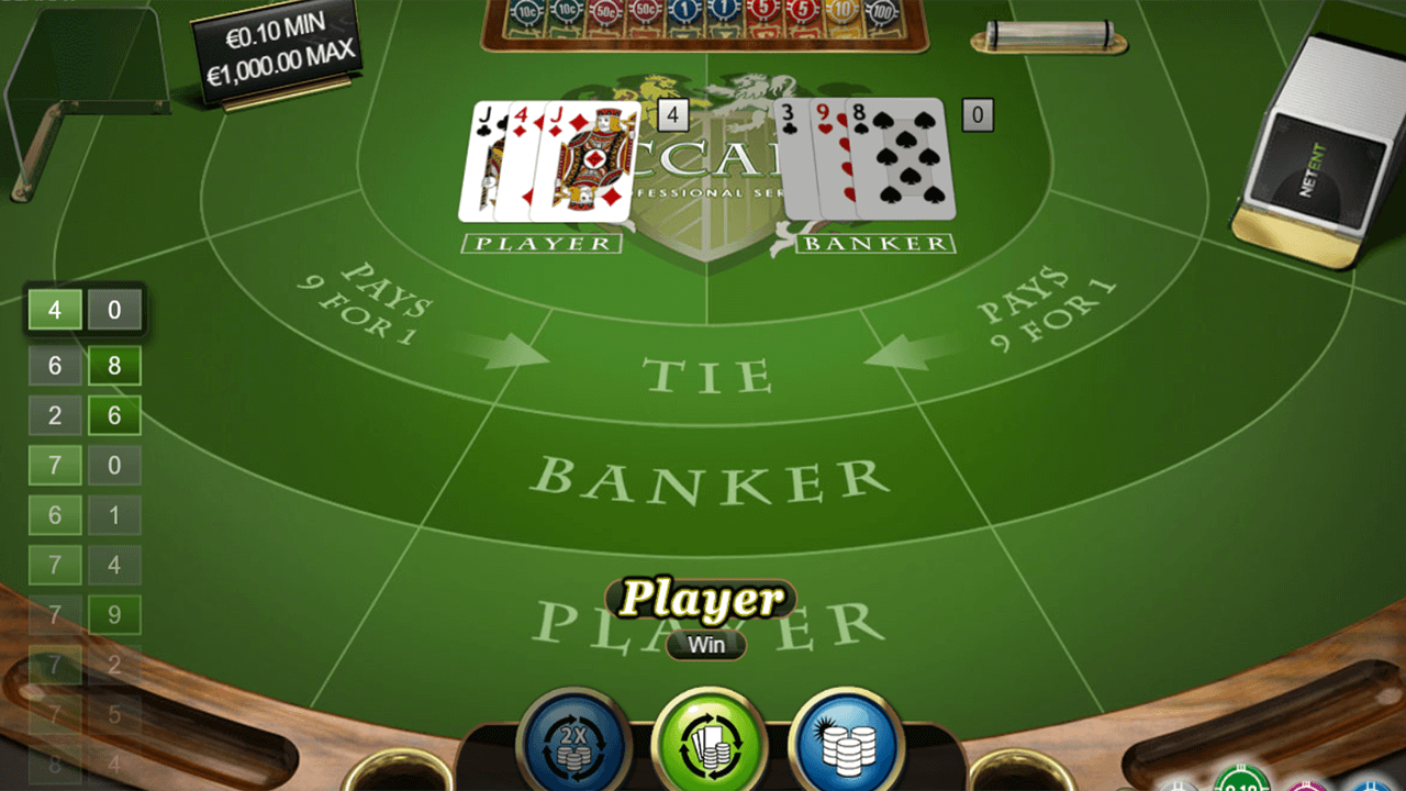 Baccarat Pro Series Table Game 9
