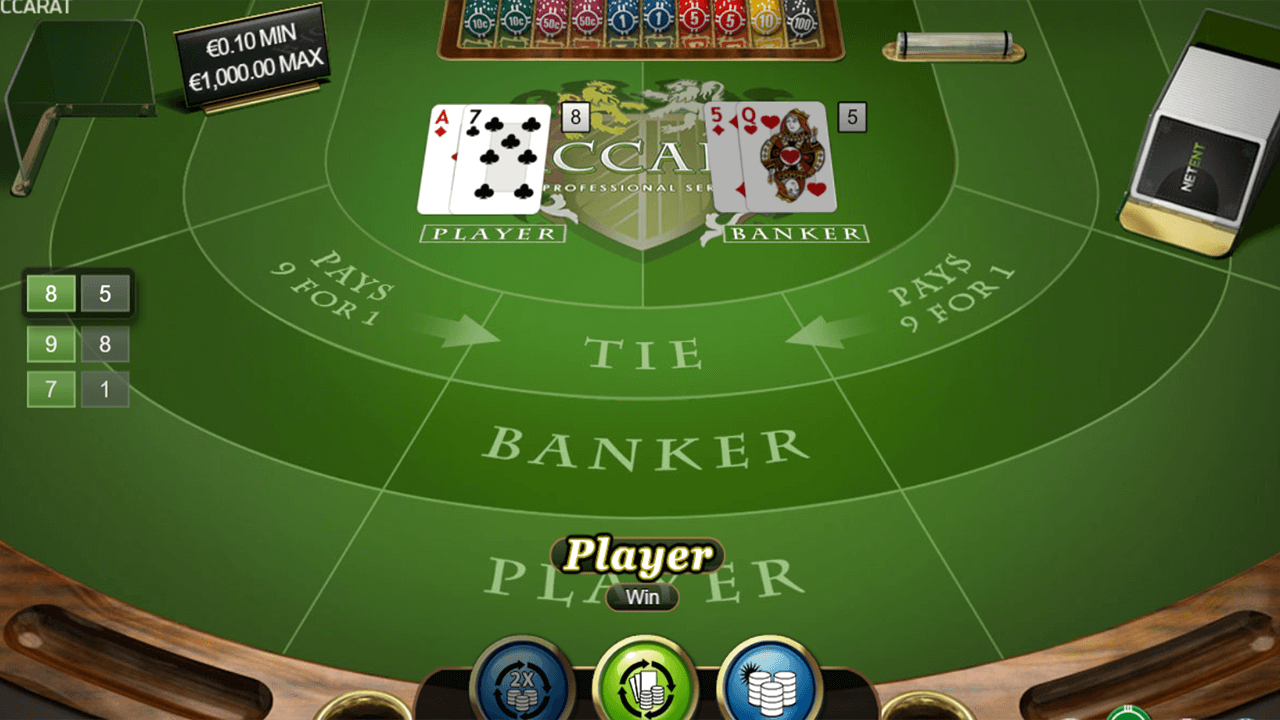 Baccarat Pro Series Table Game 3
