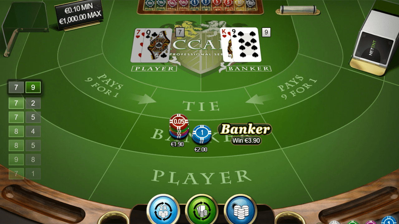 Baccarat Pro Series Table Game 6